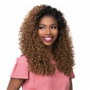 LADIES LONG CURLY WIG BROWN